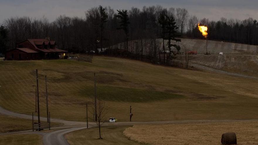 Un campo de extracción de gas en Bradford County, Pennsylvania / Foto: Greenpeace.