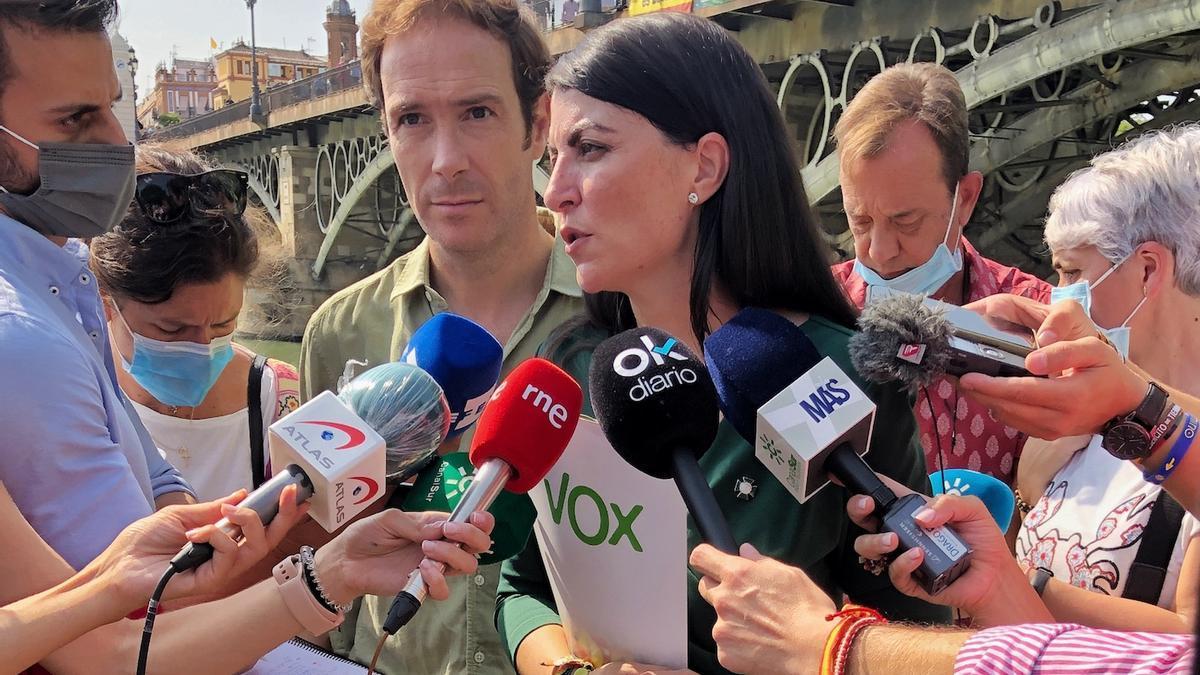 La diputada de Vox, este martes en Sevilla.