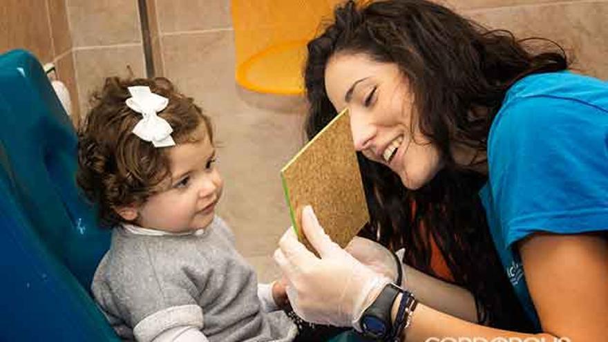 La hija de José Miguel Molleja en el Centro de Atención de Infantil Temprana donde recibe asistencia   JOSÉ MIGUEL MOLLEJA
