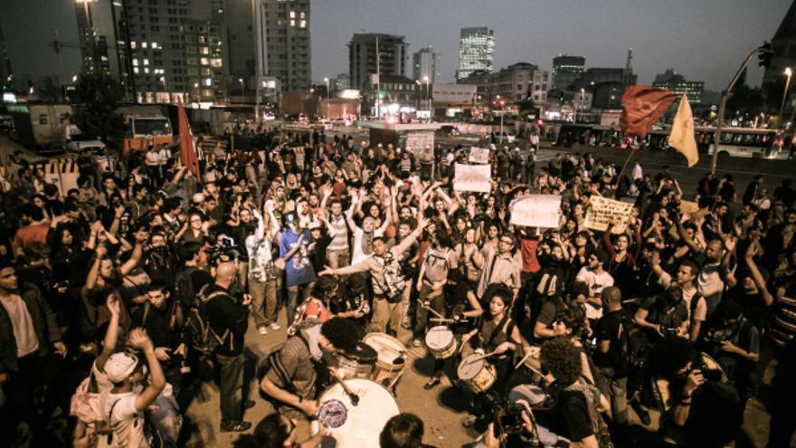 Las movilizaciones en Brasil han superado los confines de las primeras reivindicaciones. Foto: Mídia Ninja CC