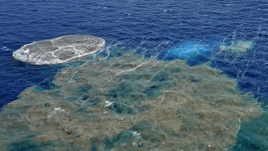 Epicentro de la erupción volcánica en el Mar de Las Calmas