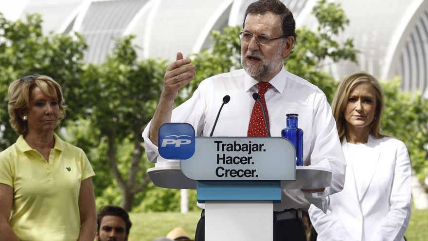 """Rajoy: Con Aguirre y Cifuentes la gente """"será más feliz"""""""