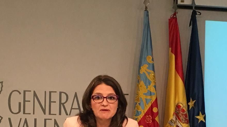 Mónica Oltra, en la referencia del pleno del Consell.