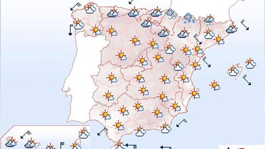 Hoy, continúa el viento fuerte en Galicia, Ampurdán, Estrecho y Canarias