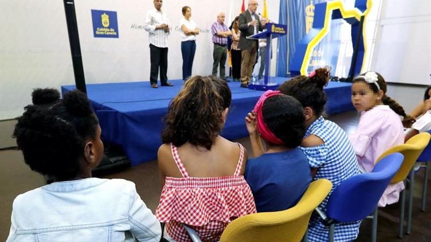 Recibimiento de los niños saharauis del programa 'Vacaciones en paz'