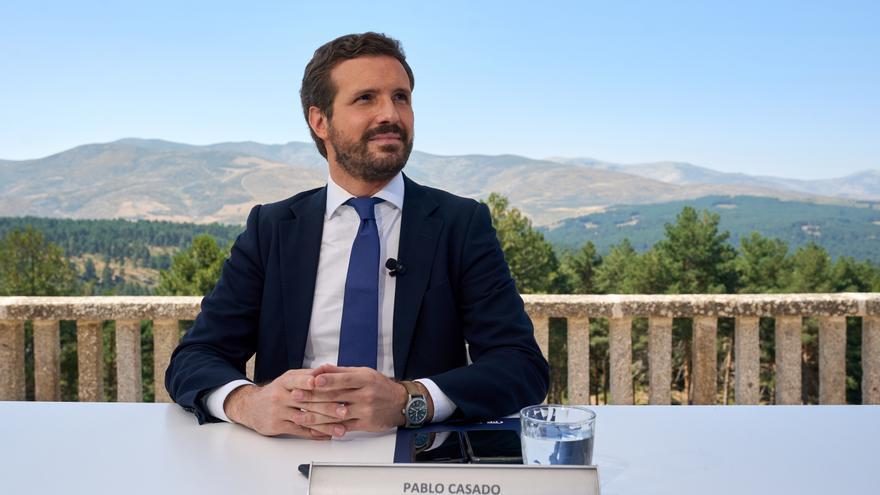 El presidente del PP, Pablo Casado. EFE/ Raúl Sanchidrián/Archivo