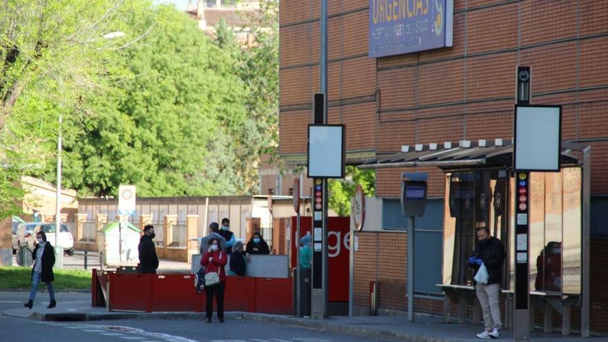 Entrada a las Urgencias en el Hospital de Toledo
