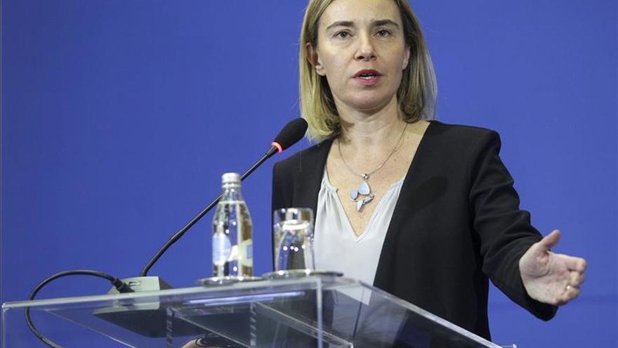 Mogherini pide unidad internacional en la lucha contra el terrorismo