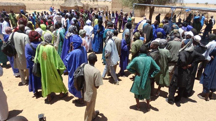 Representantes de 37 poblados movilizados por el proyecto de Senhuile SA | Imagen cedida por Farmlandgrab