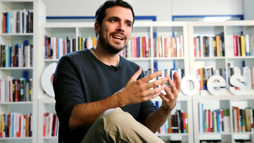 Alberto Garzón, en la redacción de eldiario.es.