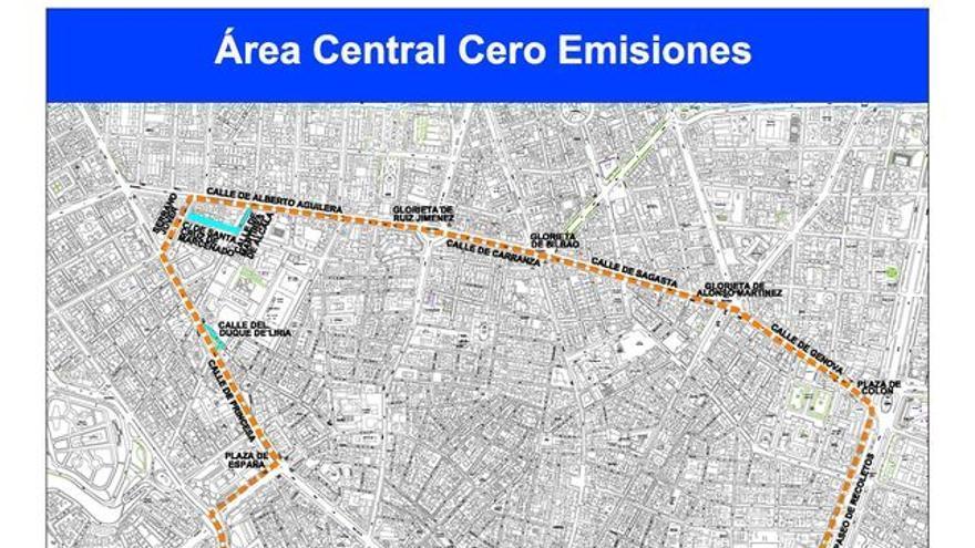 Detalle del plano de la futura Madrid Central