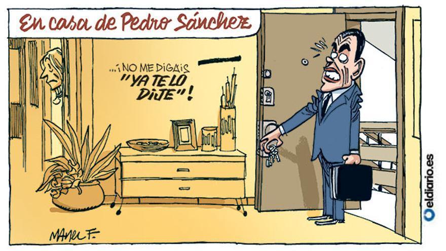 En casa de Pedro Sánchez