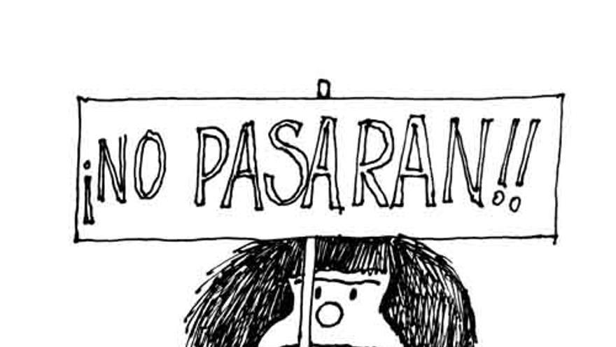 Dibujo de Quino que apareció en la portada de El País el 10 de abril de 1985