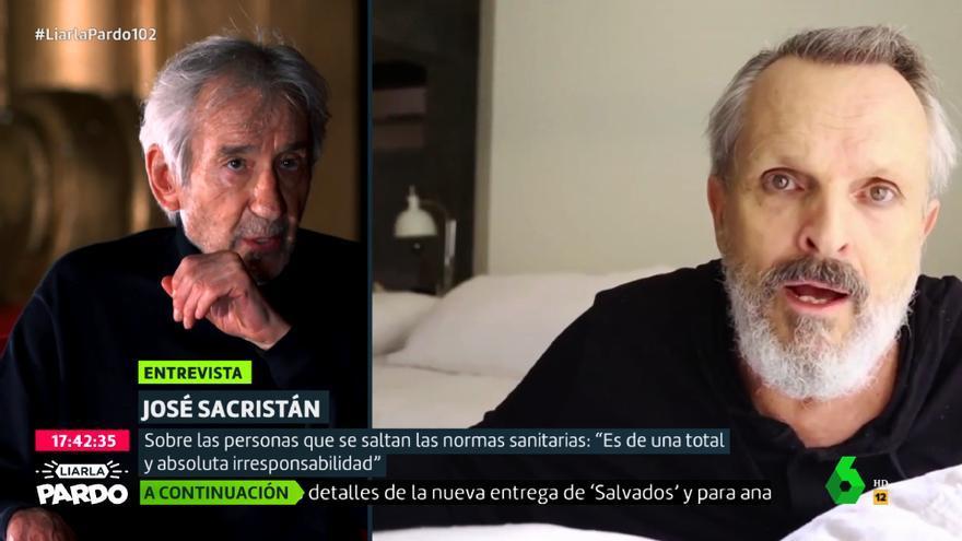 José Sacristán y Miguel Bosé