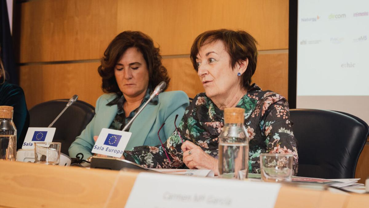 Rosa Gómez en unas jornadas de la Fundación Woman's Week en 2020.