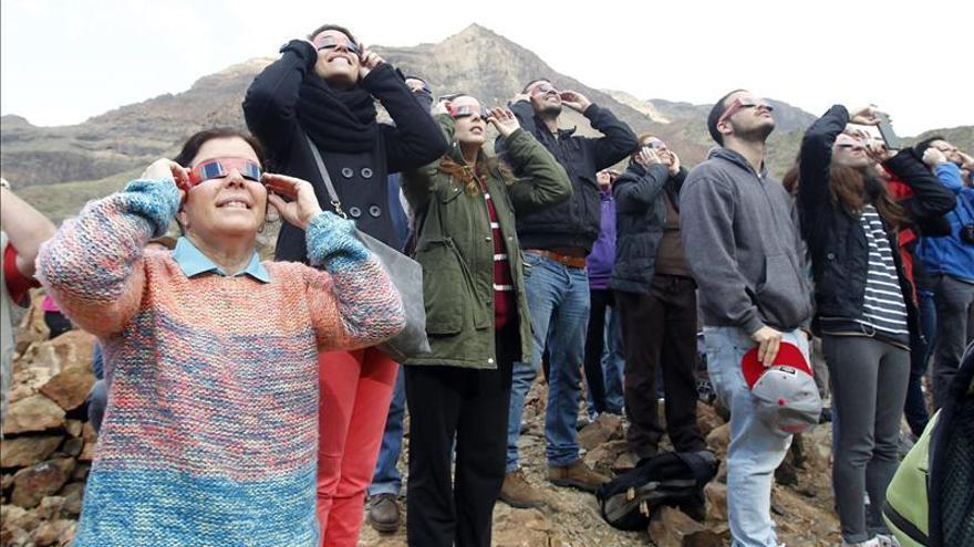 Las nubes frustran una cita histórica del sol con la necrópolis de Arteara, en Gran Canaria