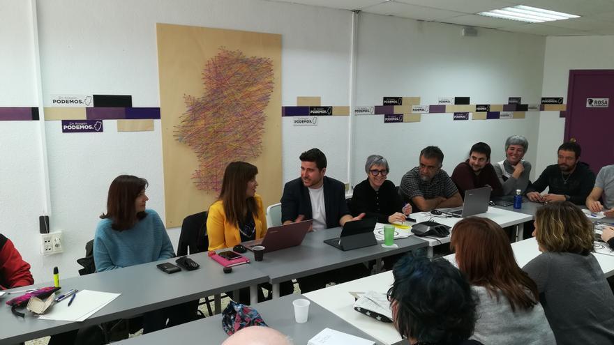 Imagen de archivo de una reunión del Consejo Ciudadano Autonómico de Podemos Aragón