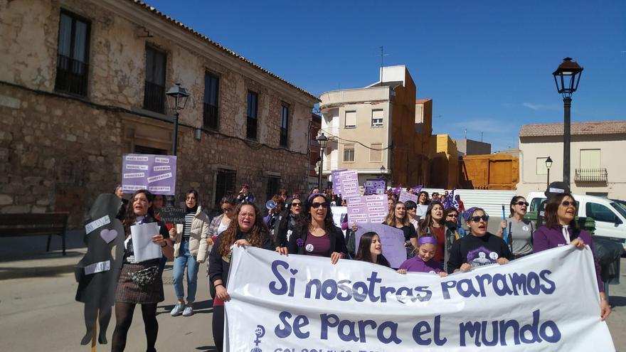 Marcha 8M en Las Pedroñeras, Cuenca