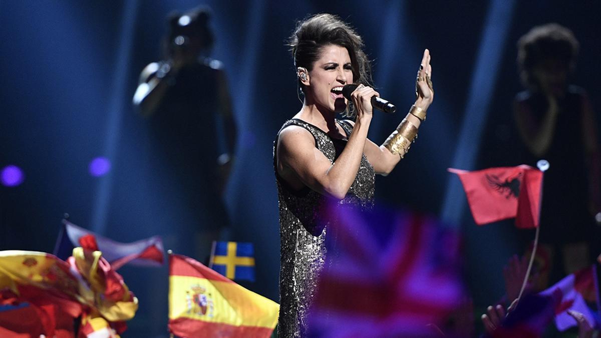 Barei interpretando 'Say Yay' en el Eurovisión 2016