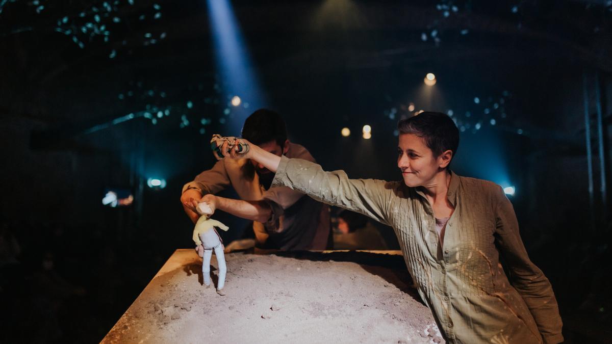 Representación de 'Canto yo y la montaña baila'. Foto: © Silvia Poch
