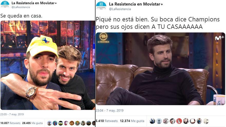 'La Resistencia' trolea a Piqué en Twitter