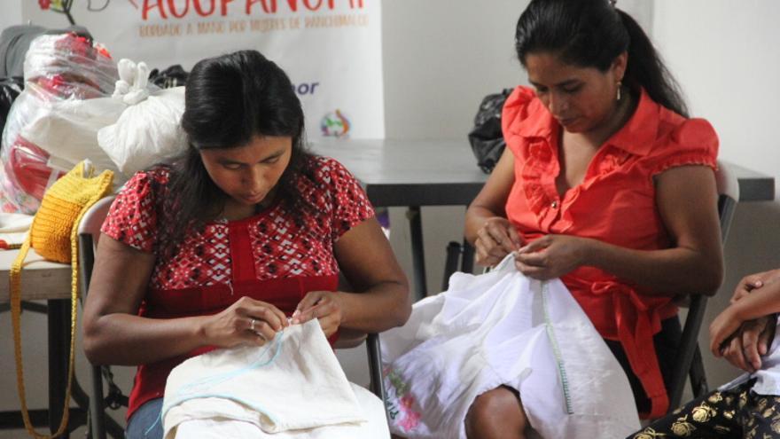 Trabajadoras de la cooperativa 'Acopanchi' de El Salvador.