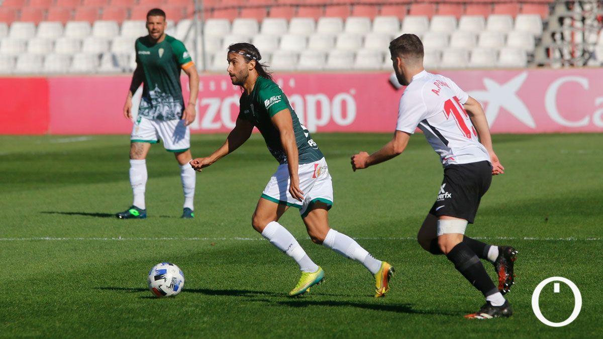 Mario Ortiz, en la visita del Córdoba al Sevilla Atlético.