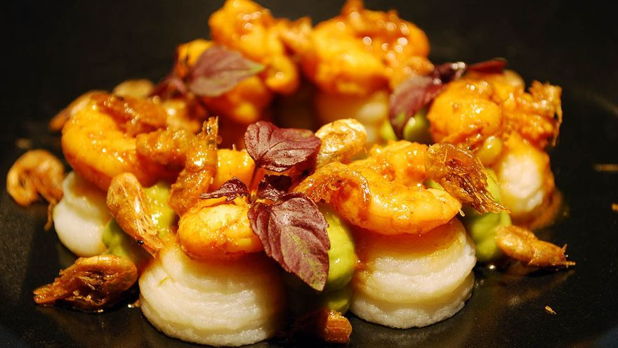 bombitas de camarón con curry _Malasaña a mordiscos_Pajarita