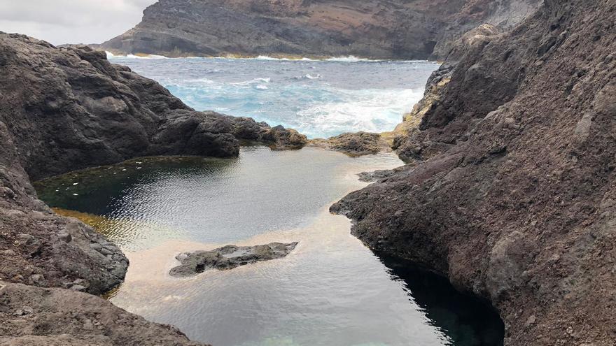 Otra de las piscinas naturales de la costa de Juan Adalid (Garafía)