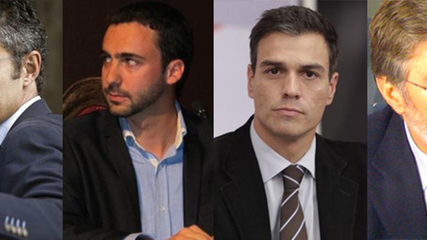 Candidatos del PSOE: Eduardo Madina, Alberto Sotillos, Pedro Sánchez y Pérez Tapias