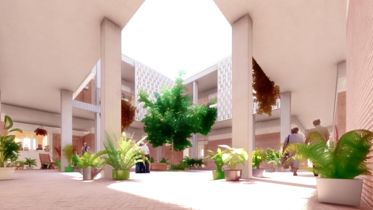 Imagen de los patios incluidos en el proyecto ganador.