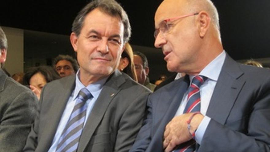 Artur Mas Y Josep Antoni Duran (Ciu) En Un Mitin