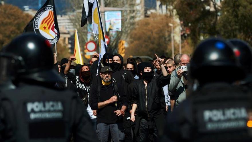 A prisión a uno de los 7 detenidos ayer en Barcelona en protestas contra VOX
