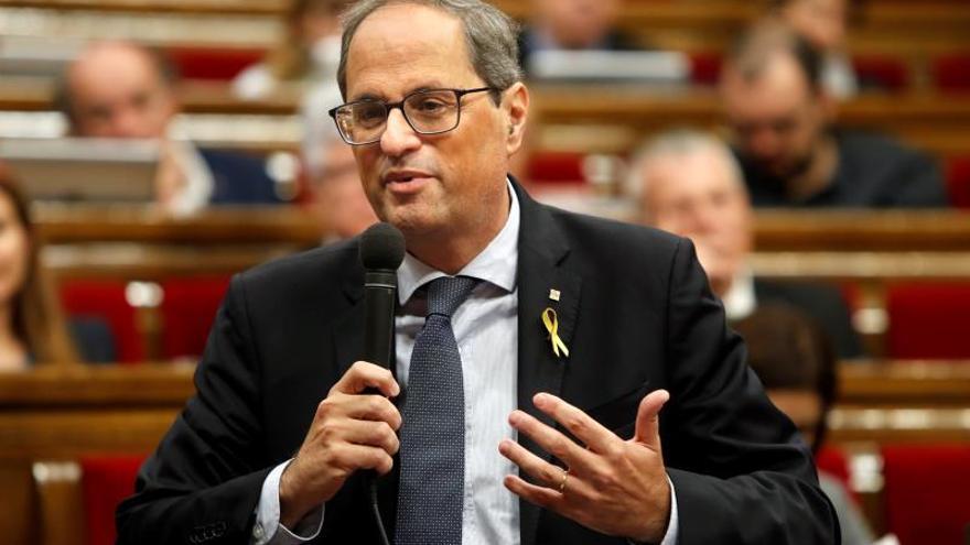 """Torra anuncia que el Parlament responderá al """"torpedo"""" de la sentencia"""