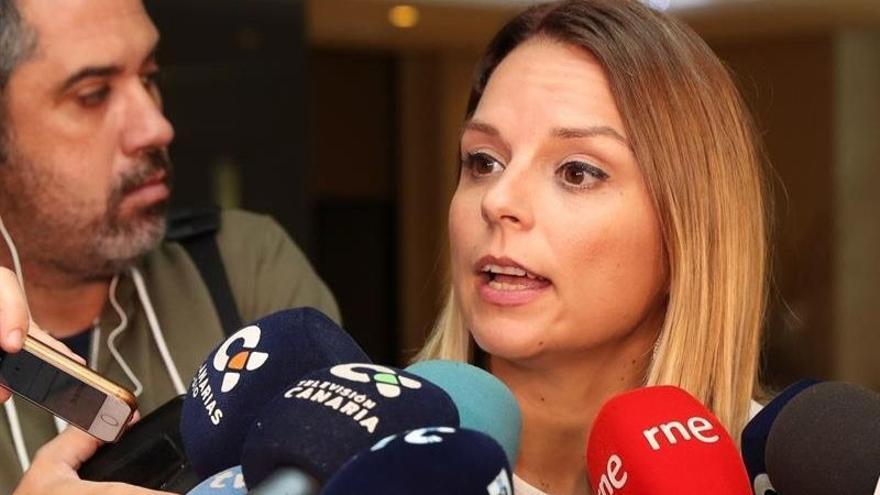 La secretaria general de Podemos Canarias, Noemí Santana
