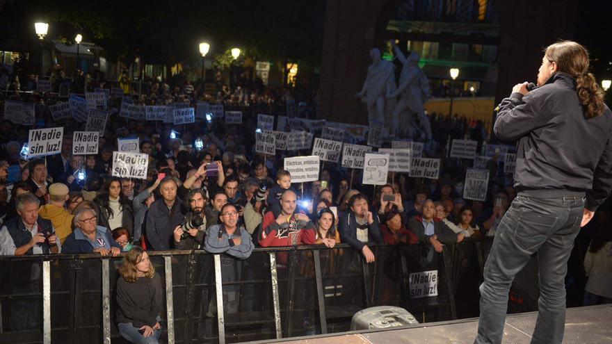 Pablo Iglesias, en el acto del Día contra la Pobreza Energética.