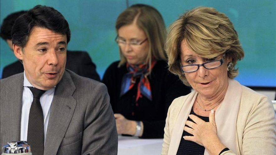 Ignacio González y la presidenta del PP madrileño, Esperanza Aguirre.