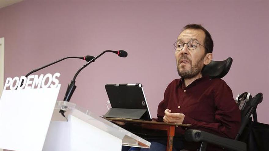 Echenique emplaza a CHA e IU a analizar los efectos de la crisis del PSOE en Aragón