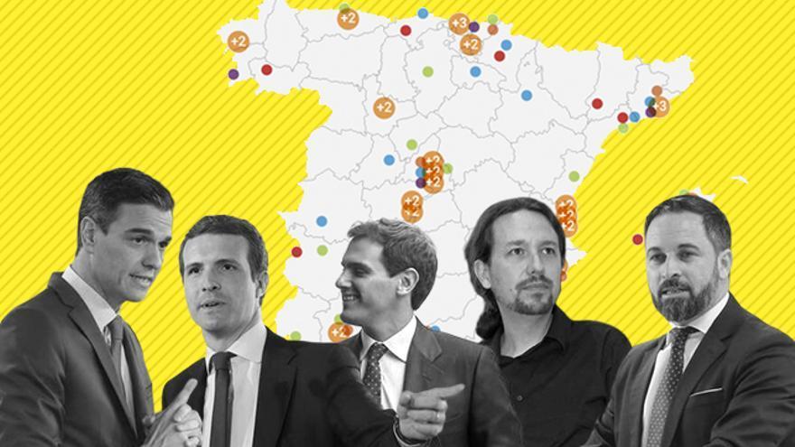 Las rutas de los candidatos