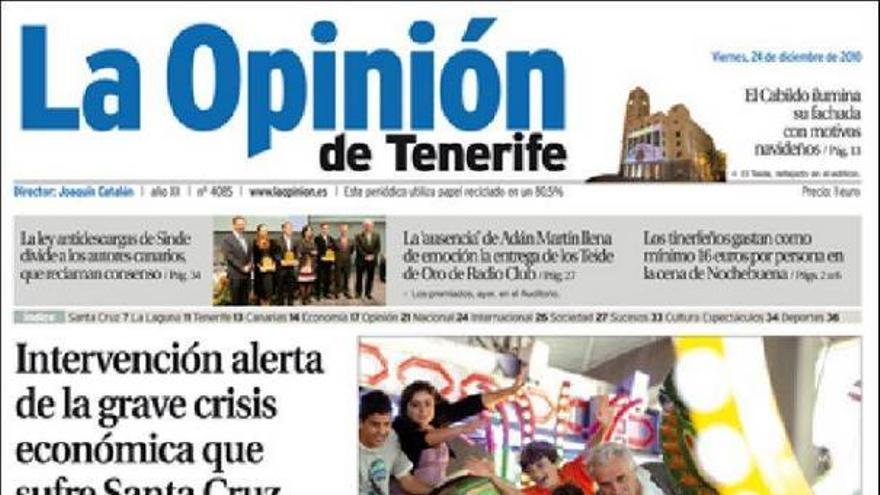 De las portadas del día (24/12/2010) #5