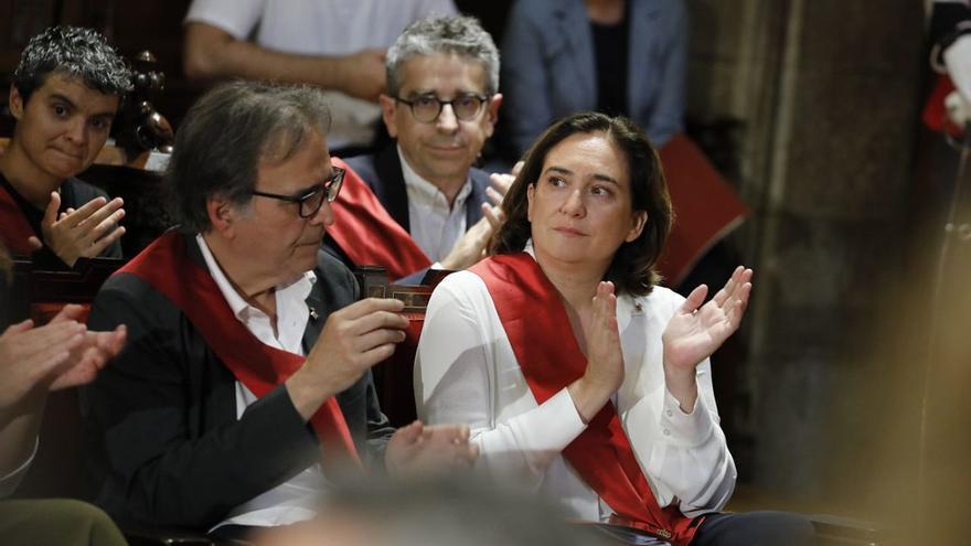 Ada Colau, durante el pleno de constitución del Ayuntamiento de Barcelona