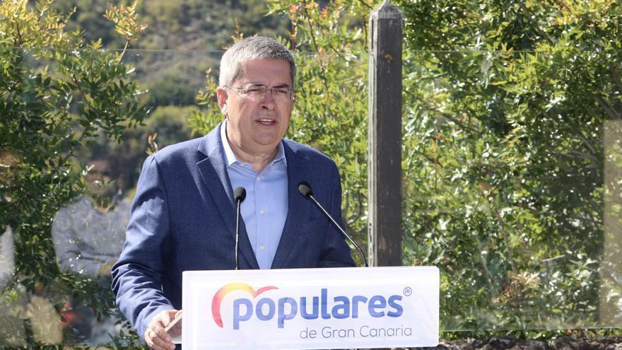 Marco Aurelio Pérez, candidato del PP al Cabildo de Gran Canaria durante la presentación de su candidatura. (Alejandro Ramos)