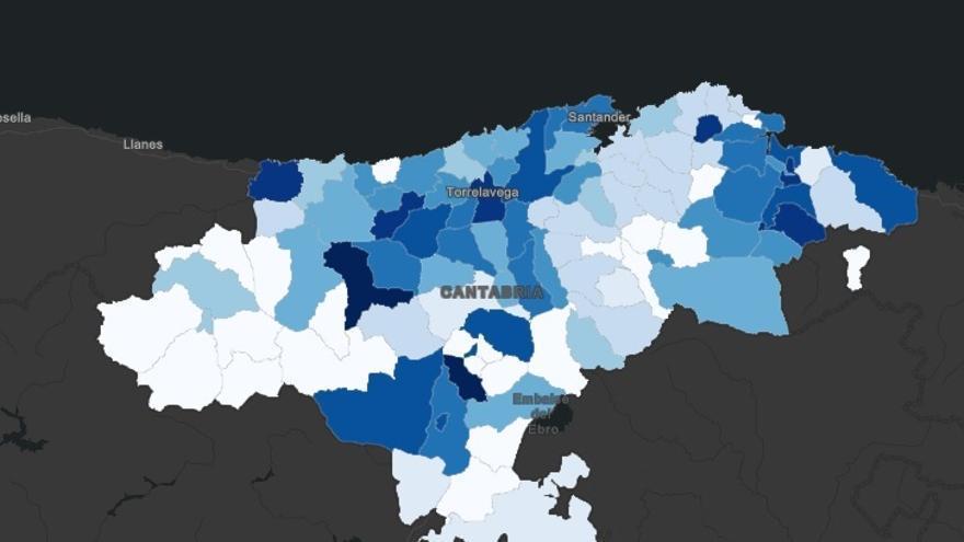 Cinco pequeños municipios, los más golpeados por el COVID19 en Cantabria
