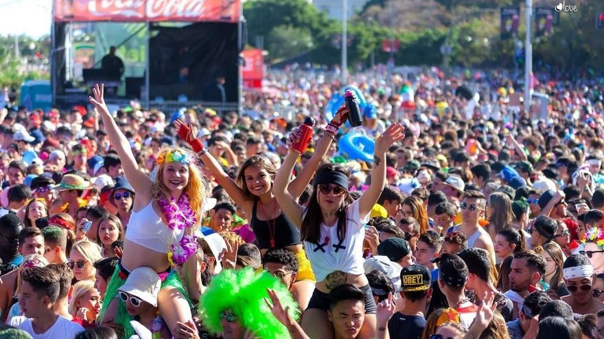 Carnaval de Santa Cruz, en una de sus fiestas diurnas