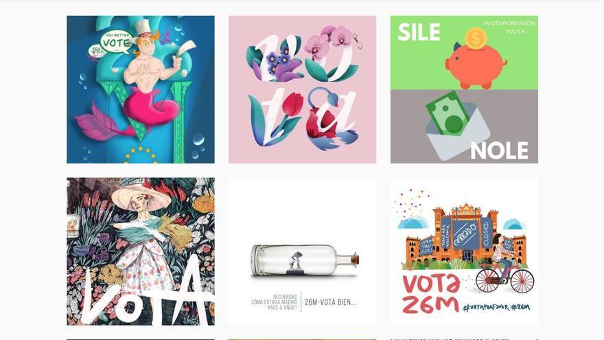 Los nuevos diseños de 'vota por favor' para la campaña del 26M