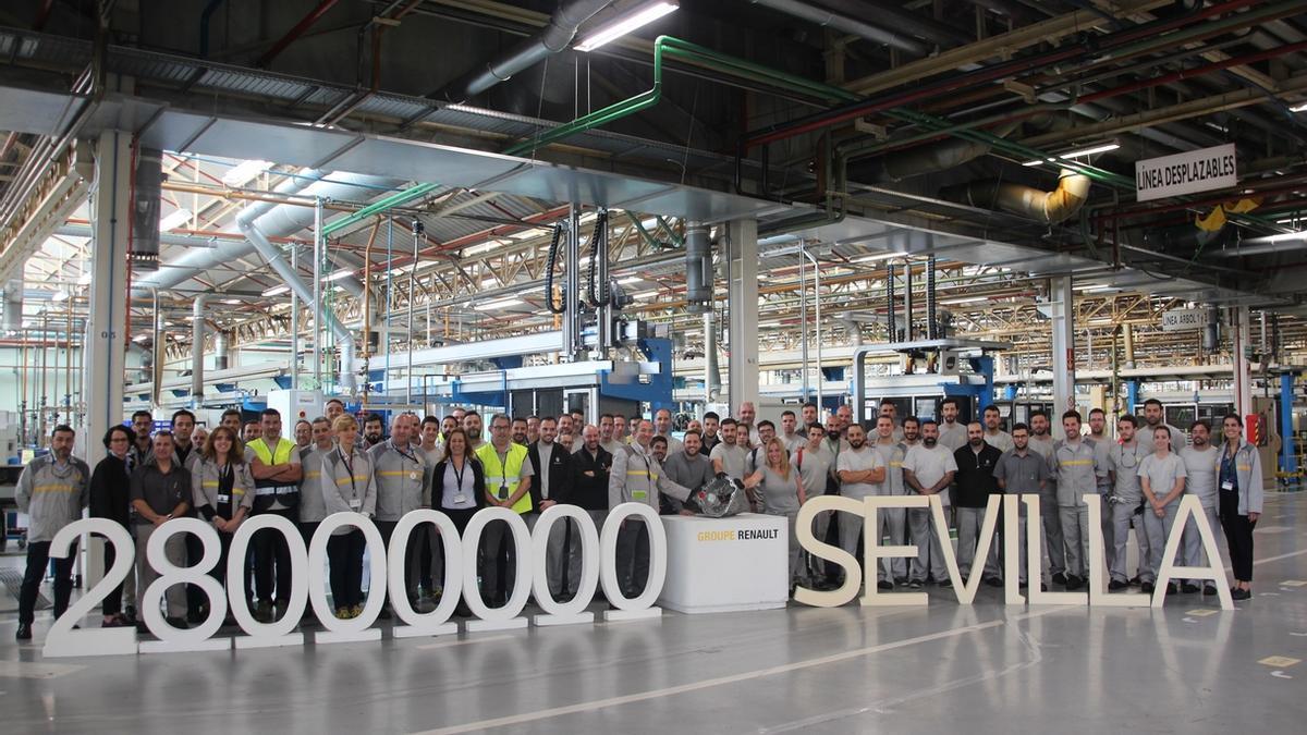 Imagen de archivo de 2018 cuando la factoría Renault en Sevilla alcanzó la fabricación de su caja de velocidades 28 millones