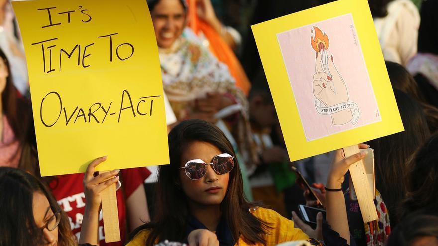 Las mujeres paquistaníes marchan con motivo del Día Internacional de la Mujer el pasado 8 de marzo.