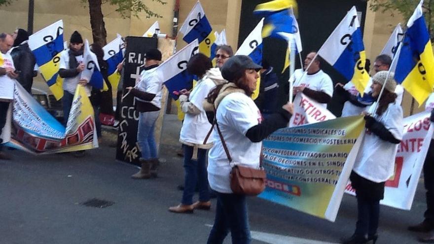 Movilizaciones realizadas los días 10 y 11 de diciembre en Madrid en favor de los dirigentes sancionados.