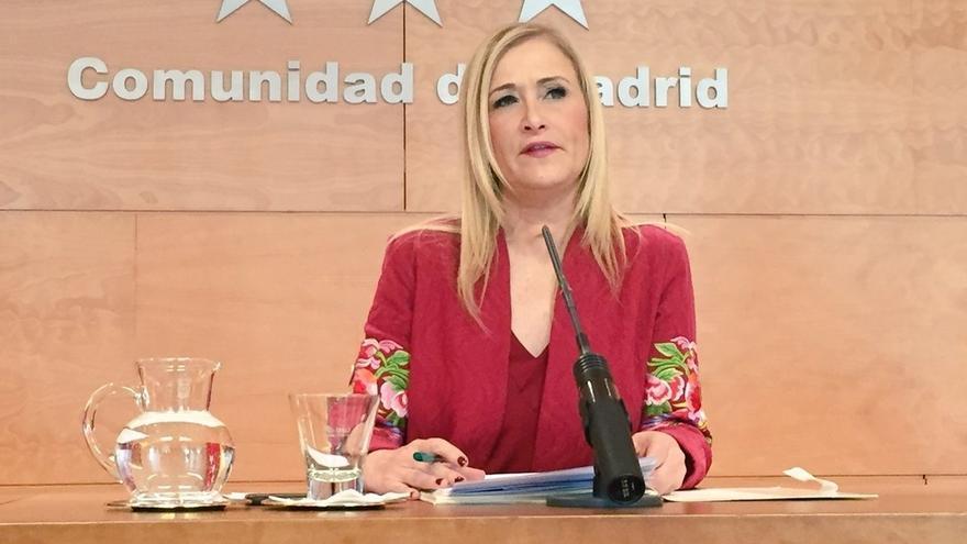 """Cifuentes respeta la dimisión de Pedro Antonio Sánchez y pide que la Justicia actúe rápido para """"limpiar su buen nombre"""""""