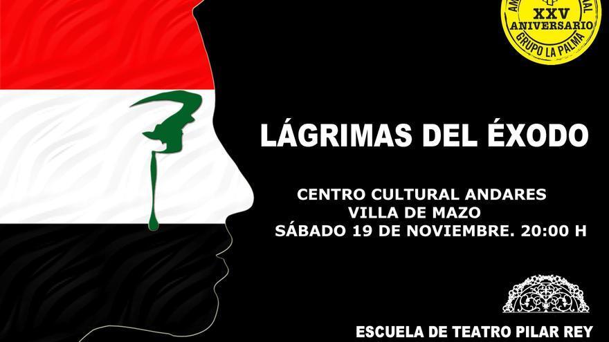 Cartel de la obra 'Lágrimas del éxodo' de la Escuela Municipal de Teatro de Santa Cruz de La Palma.
